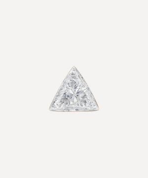 2.5mm Invisible Set Triangle Diamond Threaded Stud Earring
