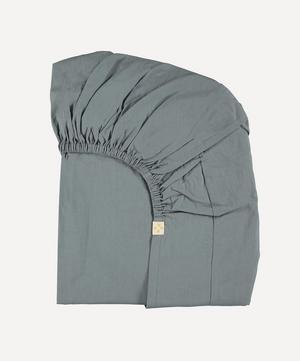 Blue Grey Single Fitted Sheet