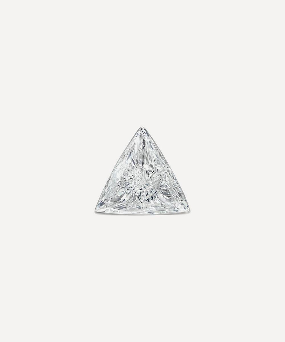 Maria Tash - 3mm Invisible Set Triangle Diamond Threaded Stud Earring