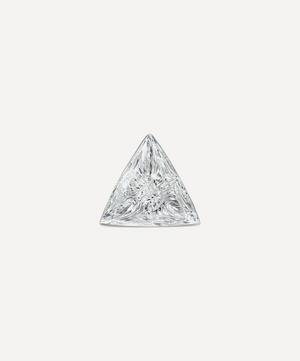 3mm Invisible Set Triangle Diamond Threaded Stud Earring