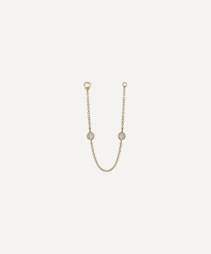 Double Scalloped Set Diamond Chain Connecting Charm