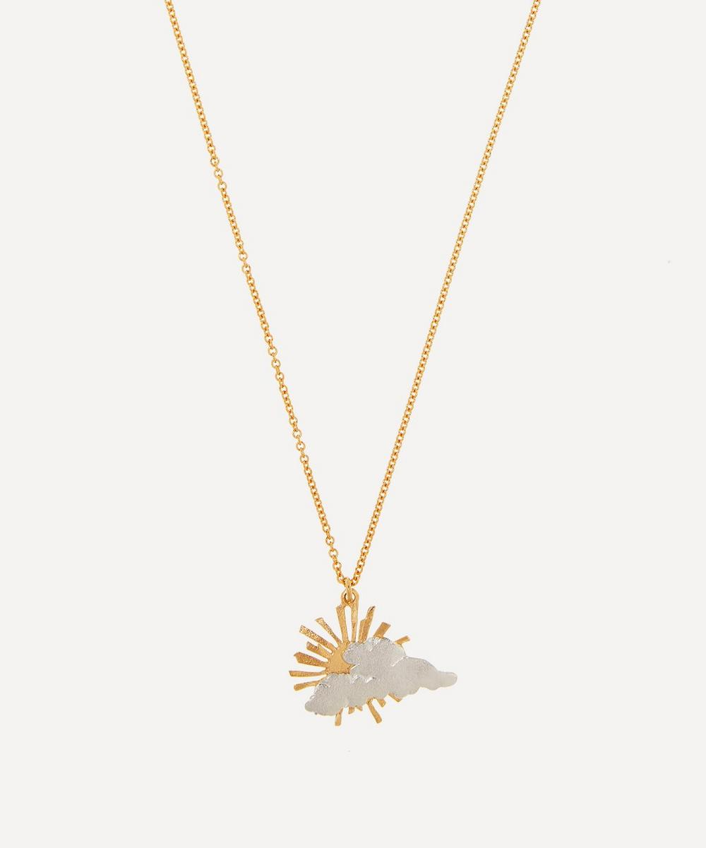 Alex Monroe - Gold-Plated Rays of Hope Pendant Necklace