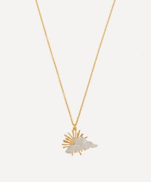 Gold-Plated Rays of Hope Pendant Necklace