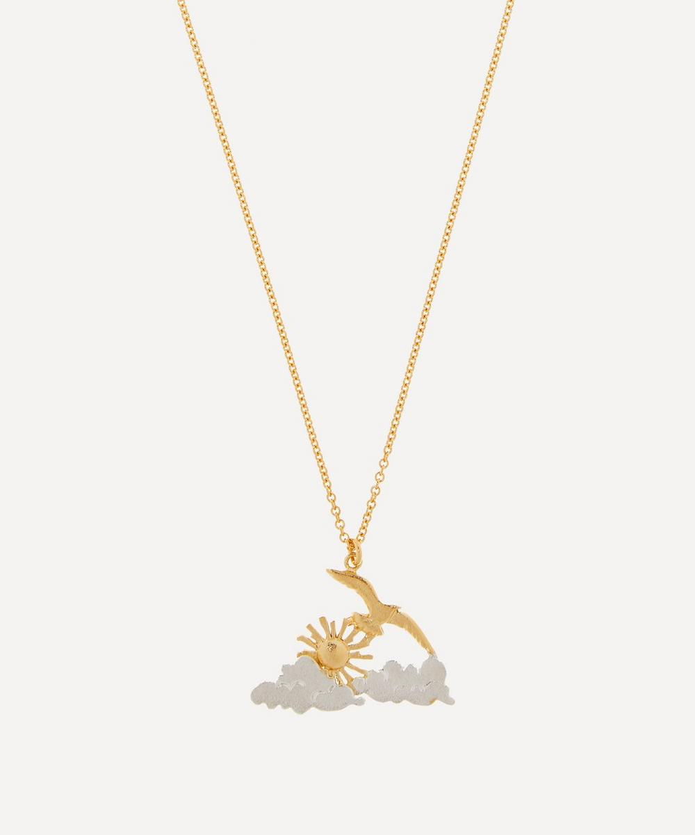 Alex Monroe - Gold-Plated Morning Sunrise Pendant Necklace