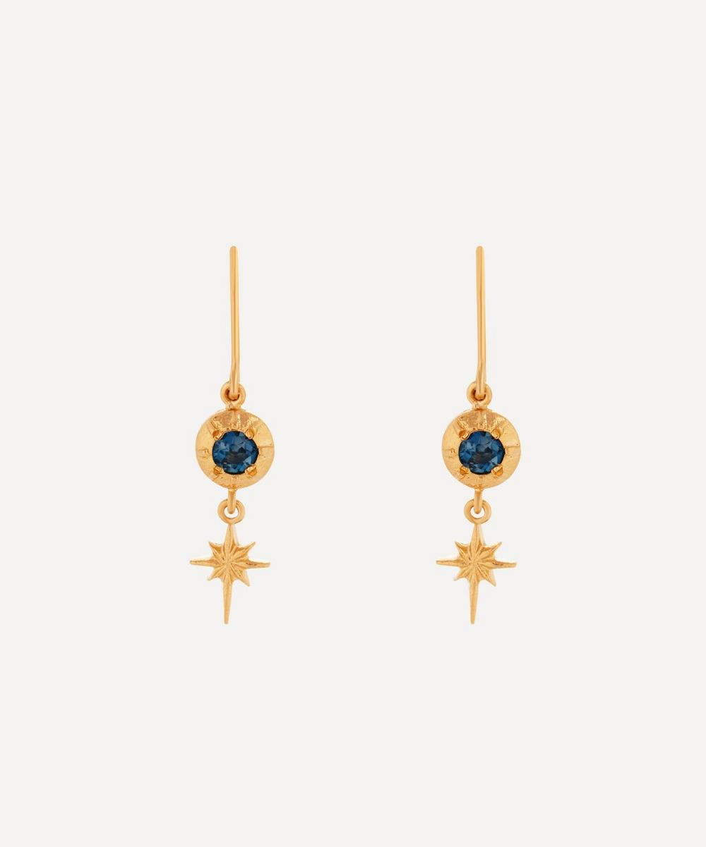 Alex Monroe - Gold-Plated Guiding Star London Blue Topaz Drop Earrings
