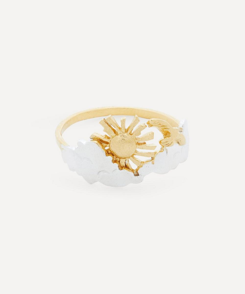 Alex Monroe - Gold-Plated Morning Sunrise Ring