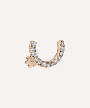 6.5mm Prong Set Diamond Demi Eternity Threaded Stud Earring