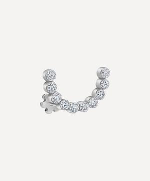 6.5mm Invisible Set Diamond Demi Eternity Threaded Stud Earring