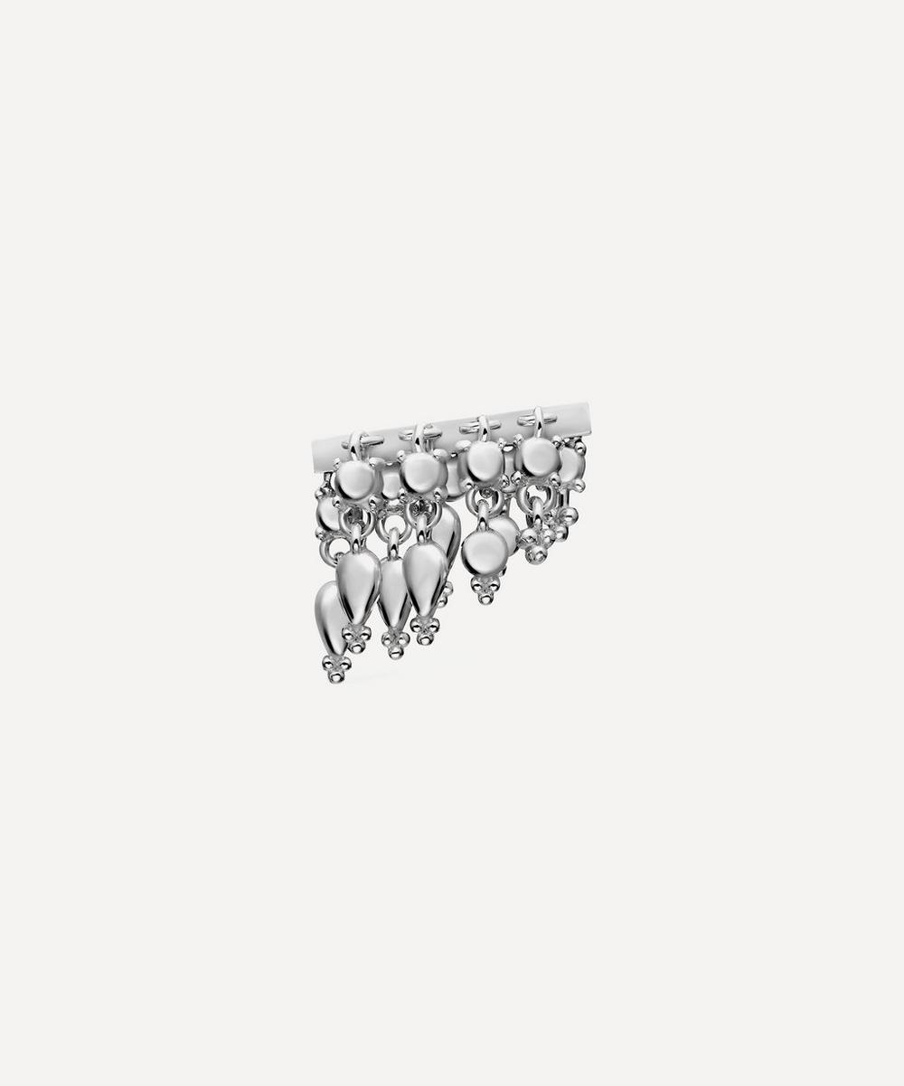 Maria Tash - 11mm Tassel Bar Stud Earring Left