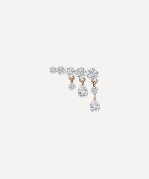 11mm Crescendo Bar Invisible Set Diamond Stud Earring Left