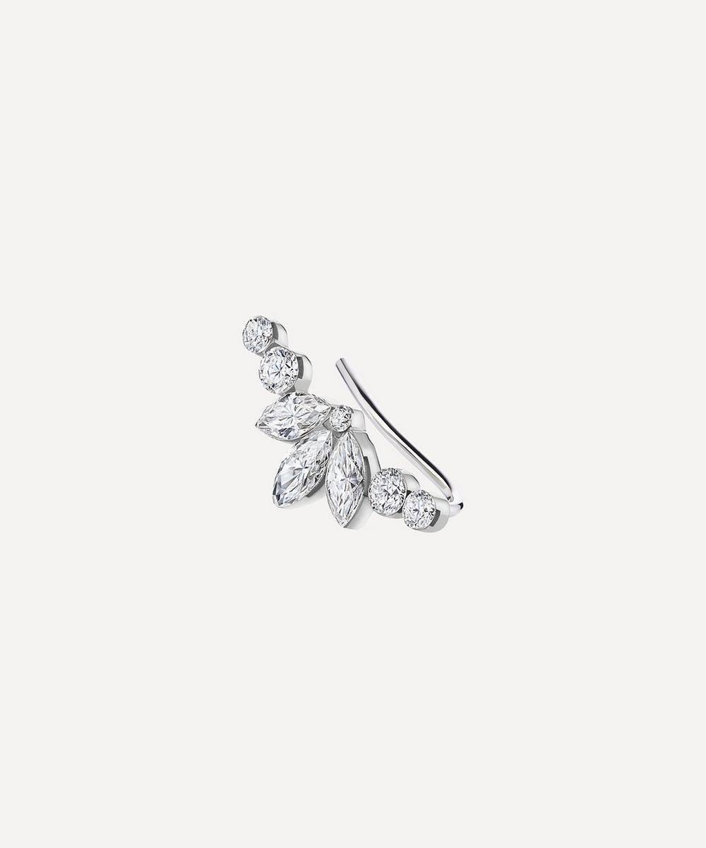 Maria Tash - Invisible Set Diamond Lotus Open Garland Climber Earring Right