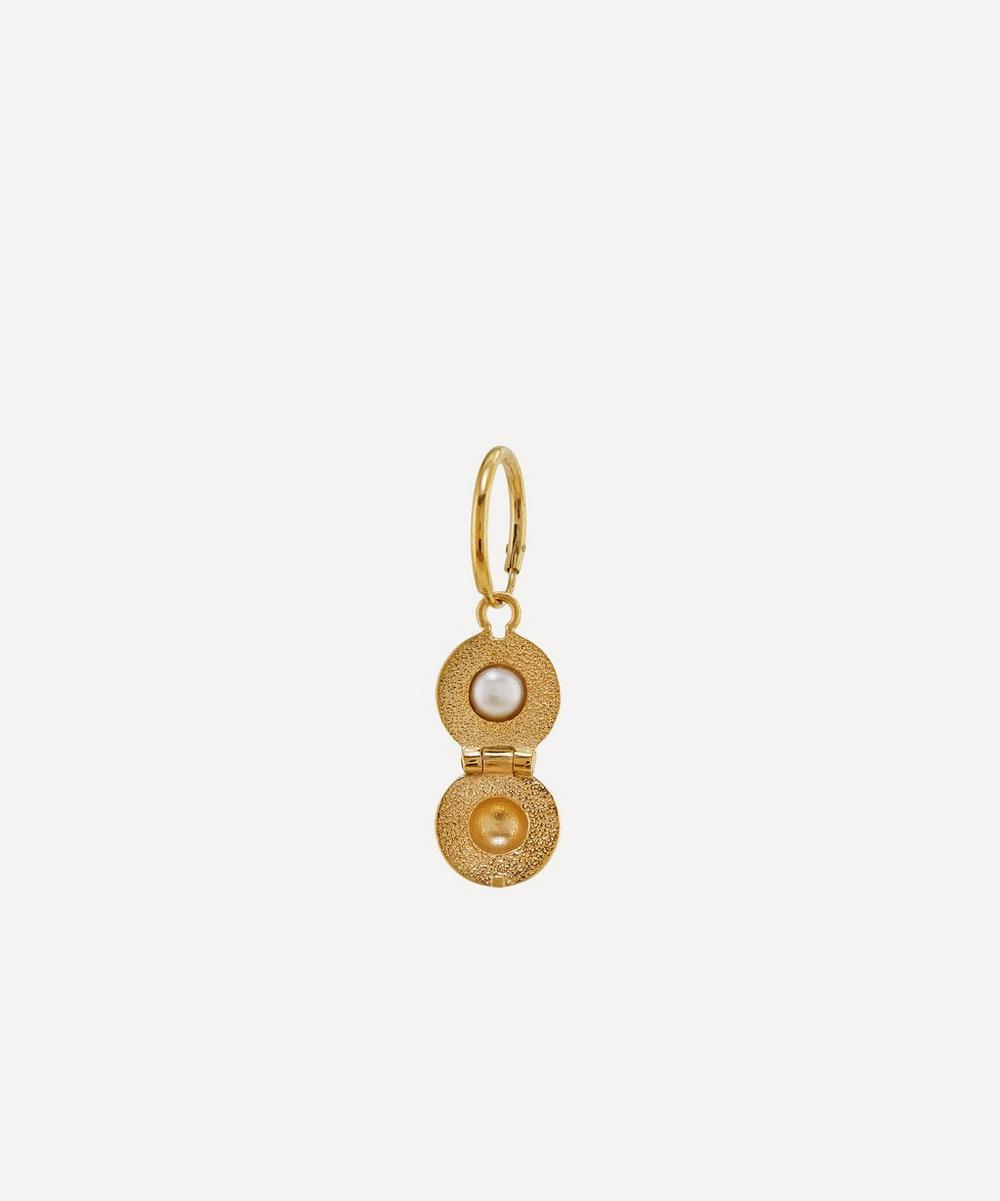 Alex Monroe - x Raven Smith Gold-Plated Cannonball Hidden Pearl Earring