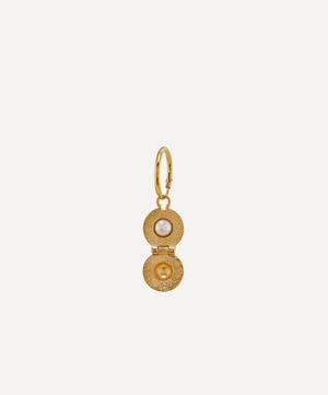 x Raven Smith Gold-Plated Cannonball Hidden Pearl Earring