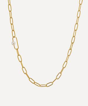x Raven Smith Gold-Plated Pea Large Link Pearl Necklace
