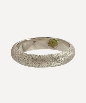 x Raven Smith Silver Hans Hidden Green Tourmaline Ring