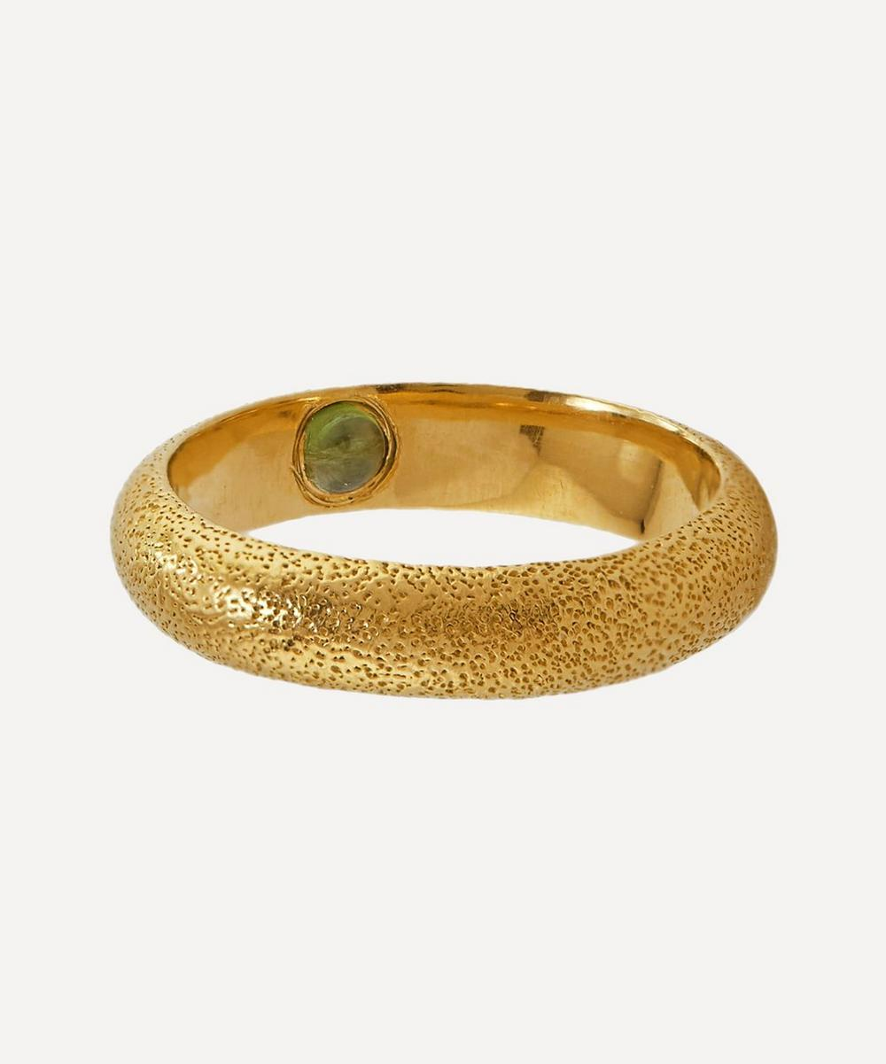 Alex Monroe - x Raven Smith Gold-Plated Hans Hidden Green Tourmaline Ring