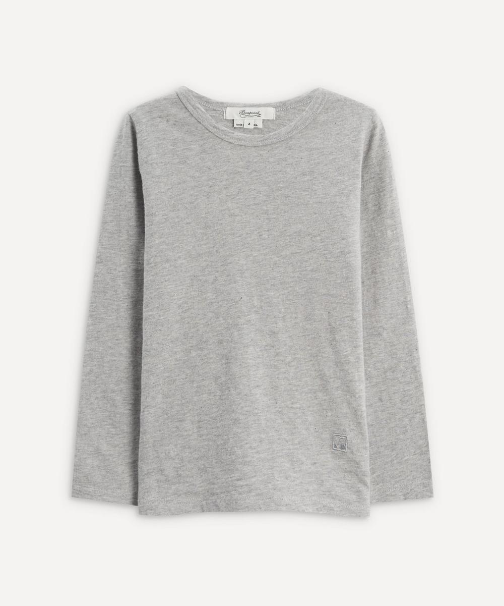 Bonpoint - Grey Cherry Long-Sleeved T-Shirt 4 Years