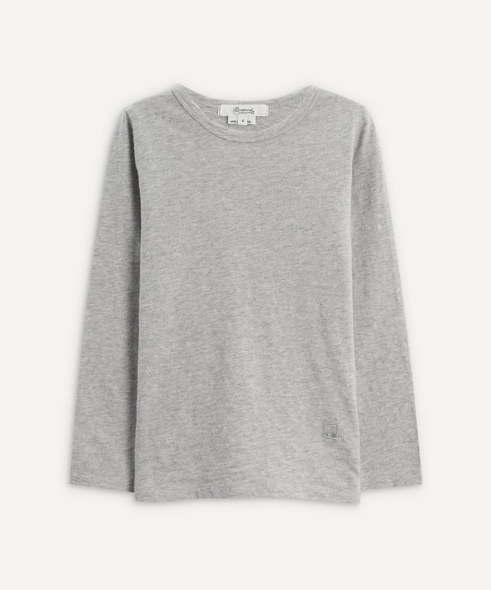 Bonpoint - Grey Cherry Long-Sleeved T-Shirt 6-8 Years