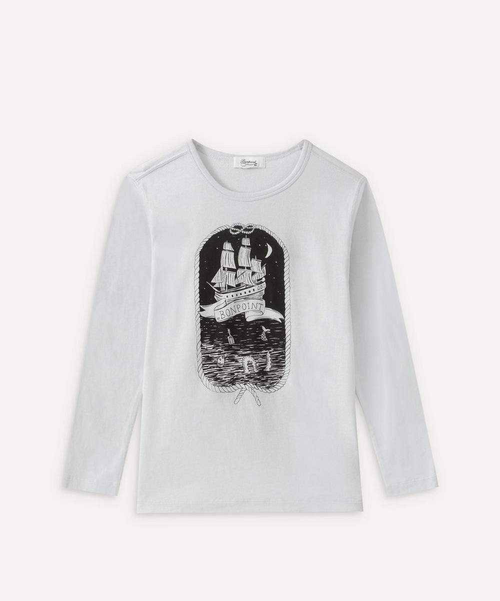 Bonpoint - Ship Long Sleeve T-Shirt 6-8 YearsShip Long Sleeve T-Shirt 6-8 Years