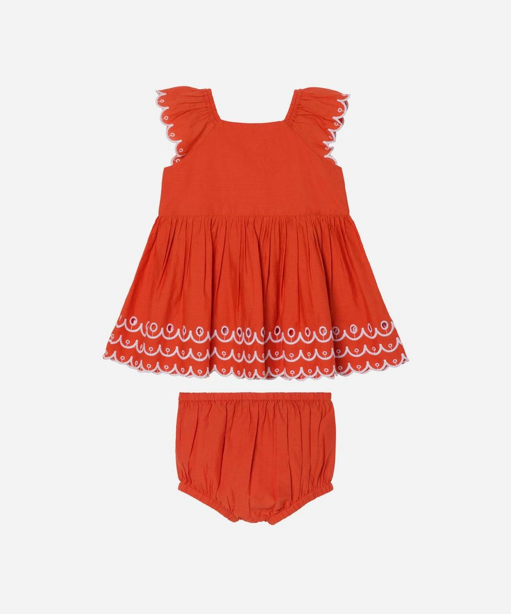 Stella McCartney Kids - Scalloped Cotton Dress 3 Months-3 Years