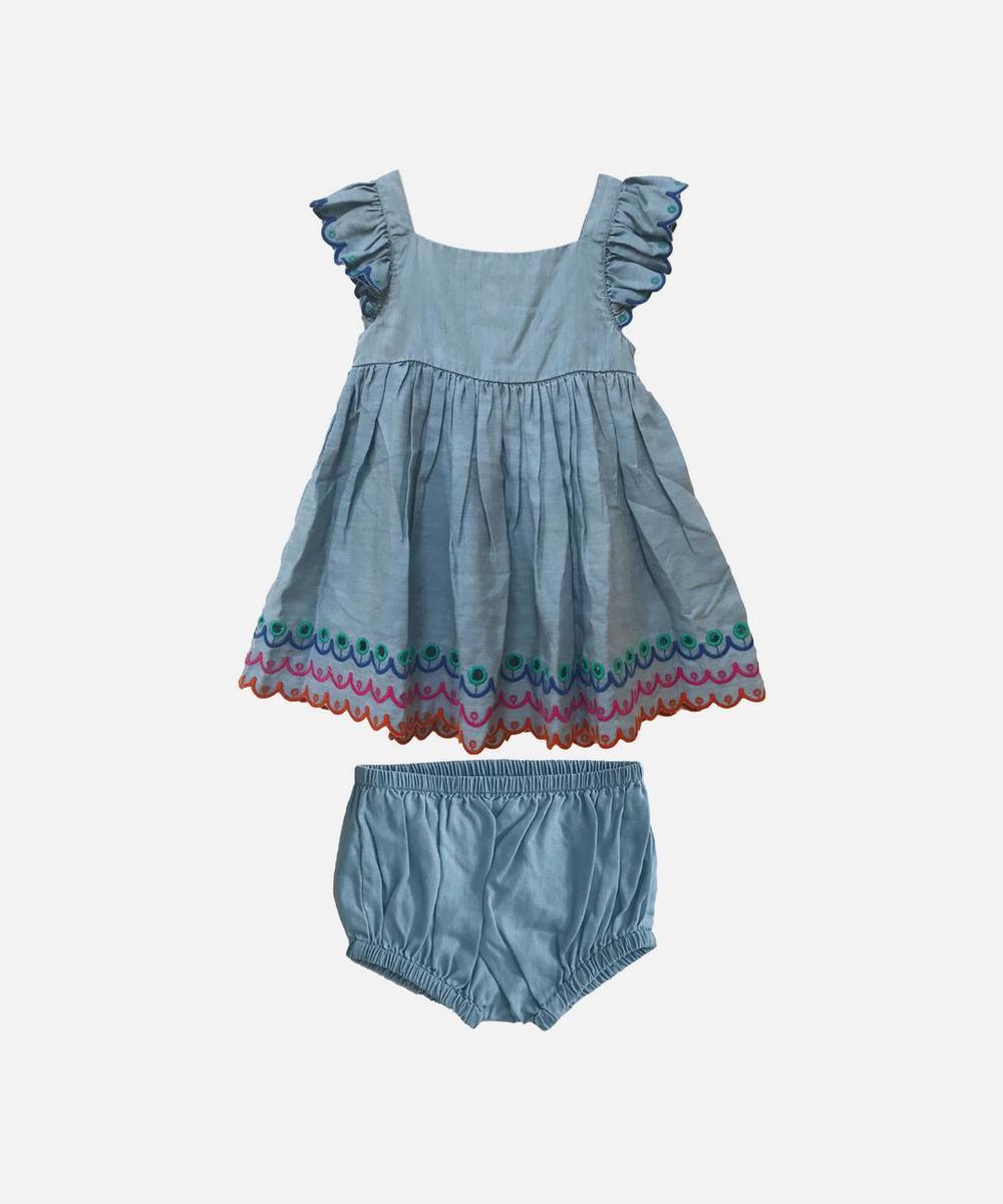 Stella McCartney Kids - Scalloped Denim Dress 3 Months-3 Years