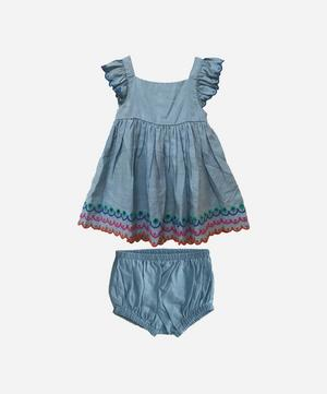 Scalloped Denim Dress 3 Months-3 Years
