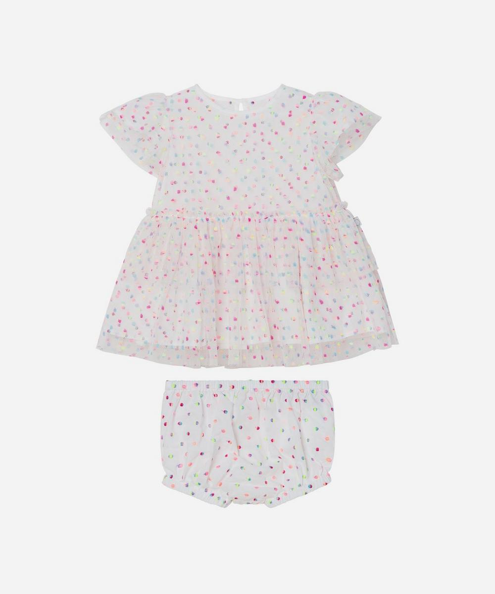 Stella McCartney Kids - Embroidered Dots Tulle Dress 3 Months-3 Years