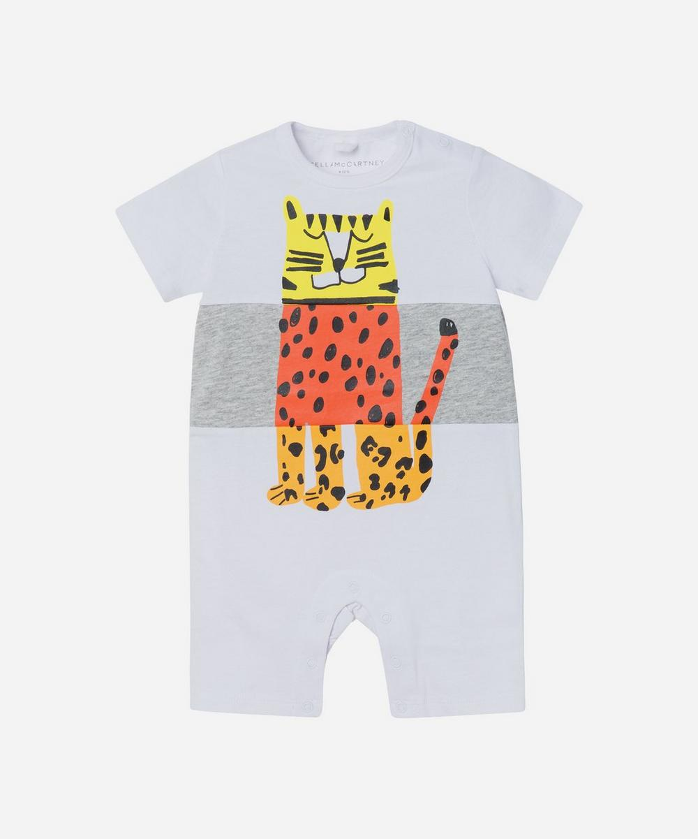 Stella McCartney Kids - Colourblock Tiger Romper 3 Months-3 Years