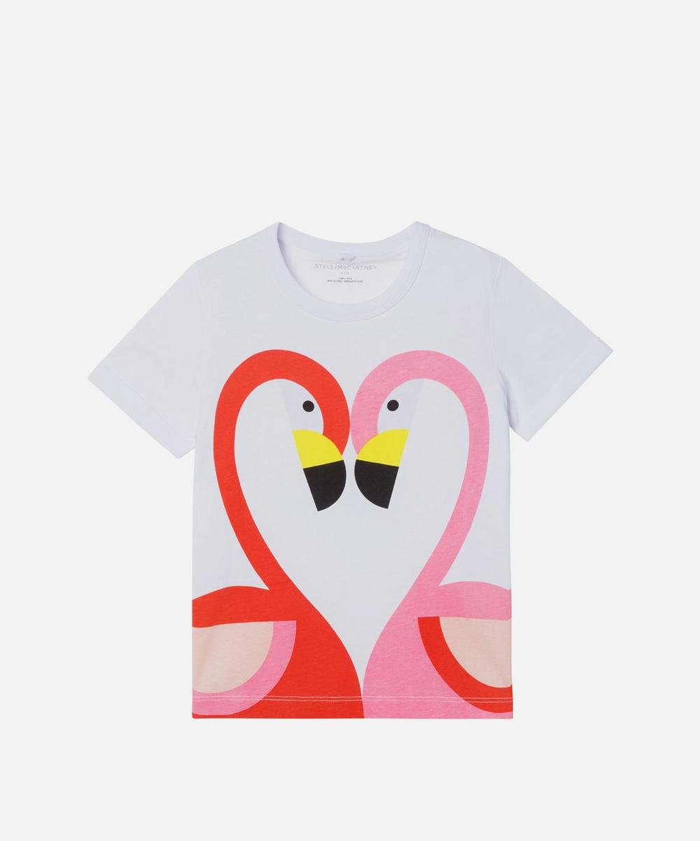 Stella McCartney Kids - Flamingo Short Sleeve T-Shirt 2-8 Years