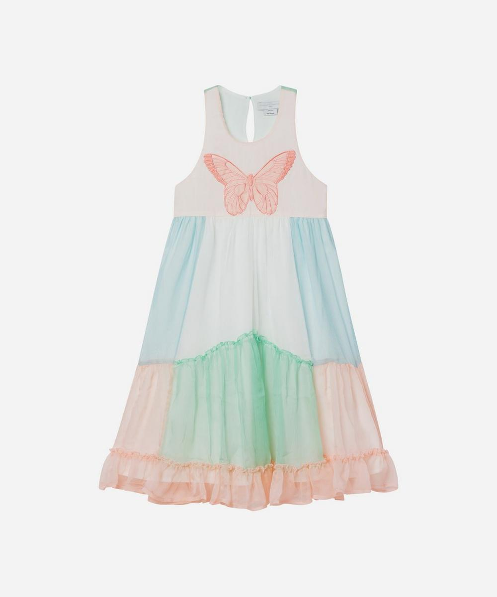 Stella McCartney Kids - Butterfly Patch Georgette Silk Dress 2-8 Years