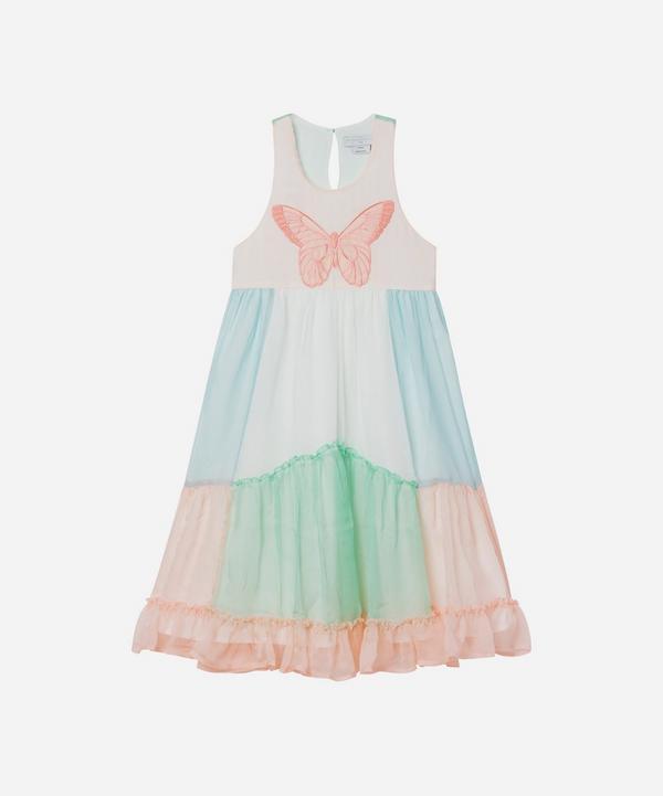Stella McCartney Kids - Butterfly Patch Georgette Silk Dress 2-8 Years