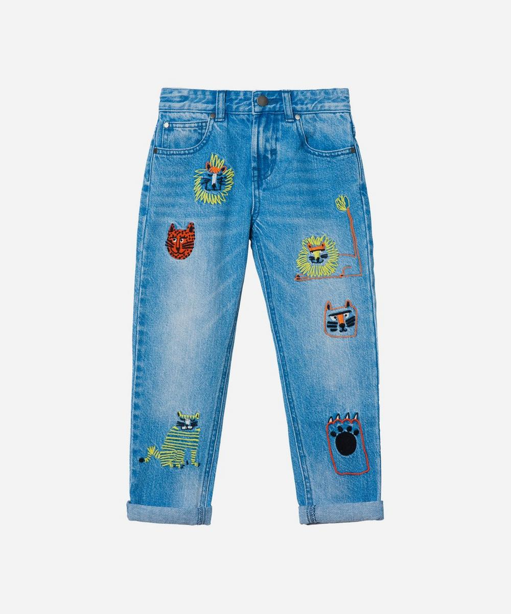 Stella McCartney Kids - Wild Cats Embroidered Denim Jeans 2-8 Years image number 0