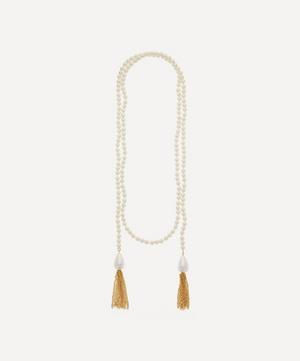 Long Pearl Tassel Wrap Necklace