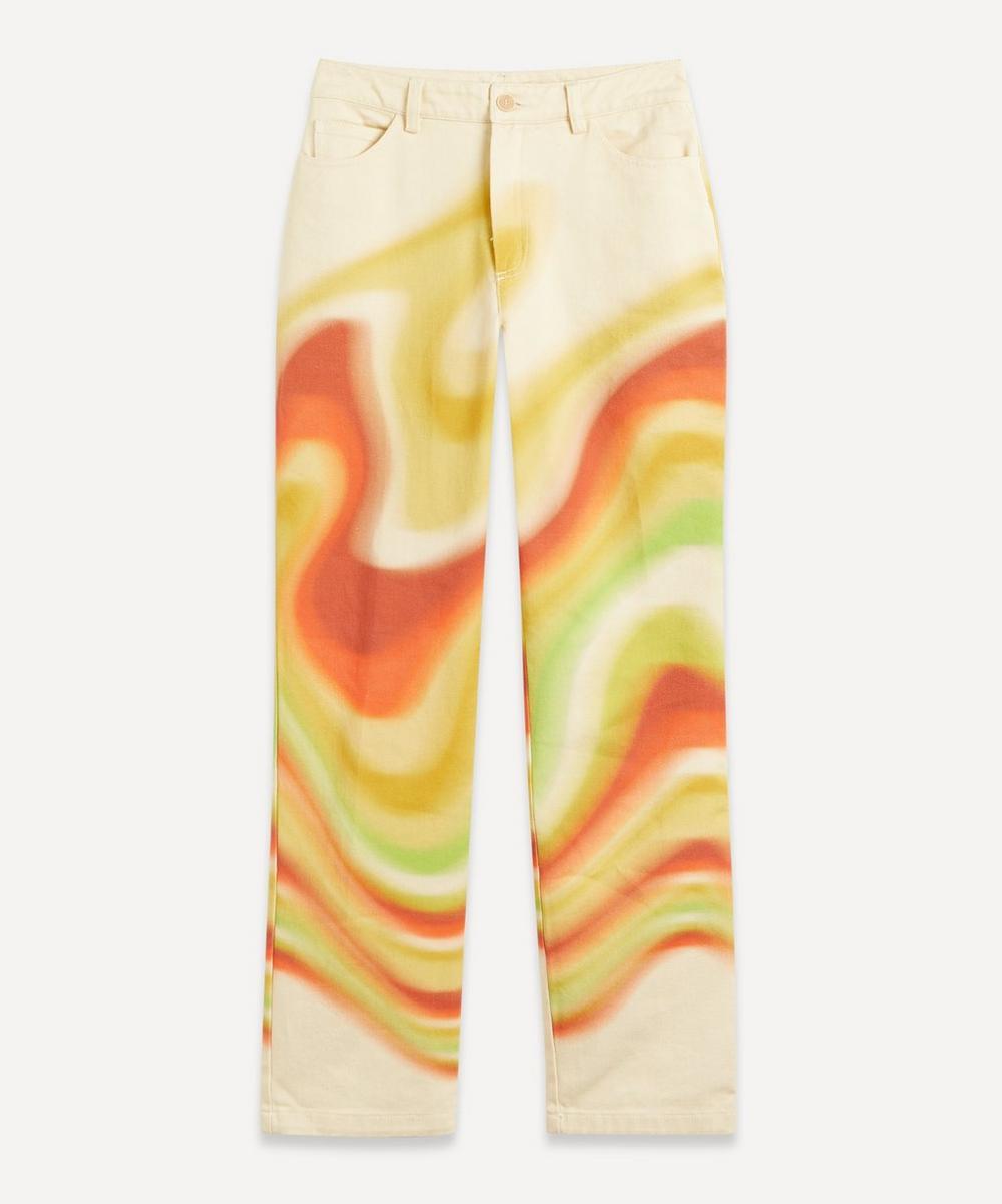 Paloma Wool - Kent Ondas Locas Print Straight-Leg Trousers
