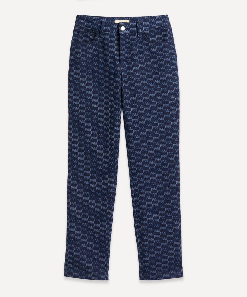Paloma Wool - Keria Logo Pattern Cotton Jeans