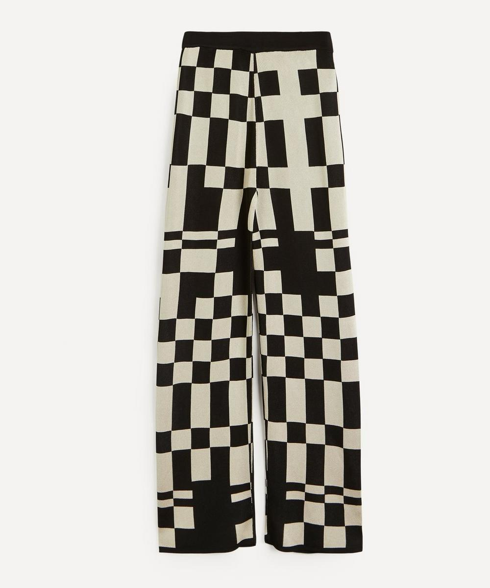 Paloma Wool - Puerto Check Jacquard Knit Trousers