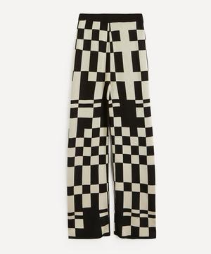 Puerto Check Jacquard Knit Trousers