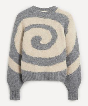 Twister Swirl Intarsia Knit Jumper