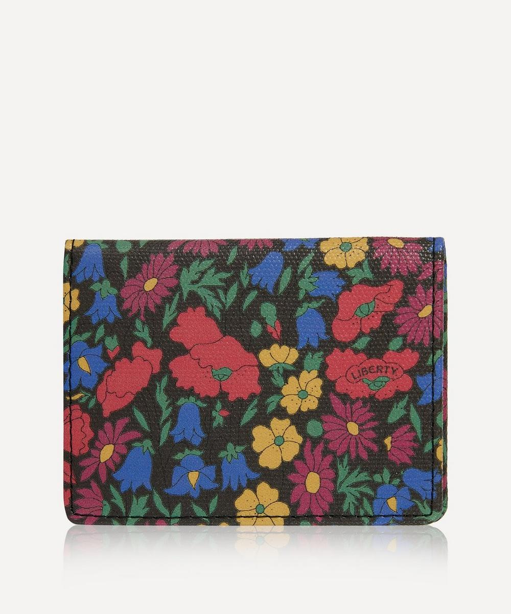 Liberty - Little Ditsy Poppy and Daisy Travel Card Holder