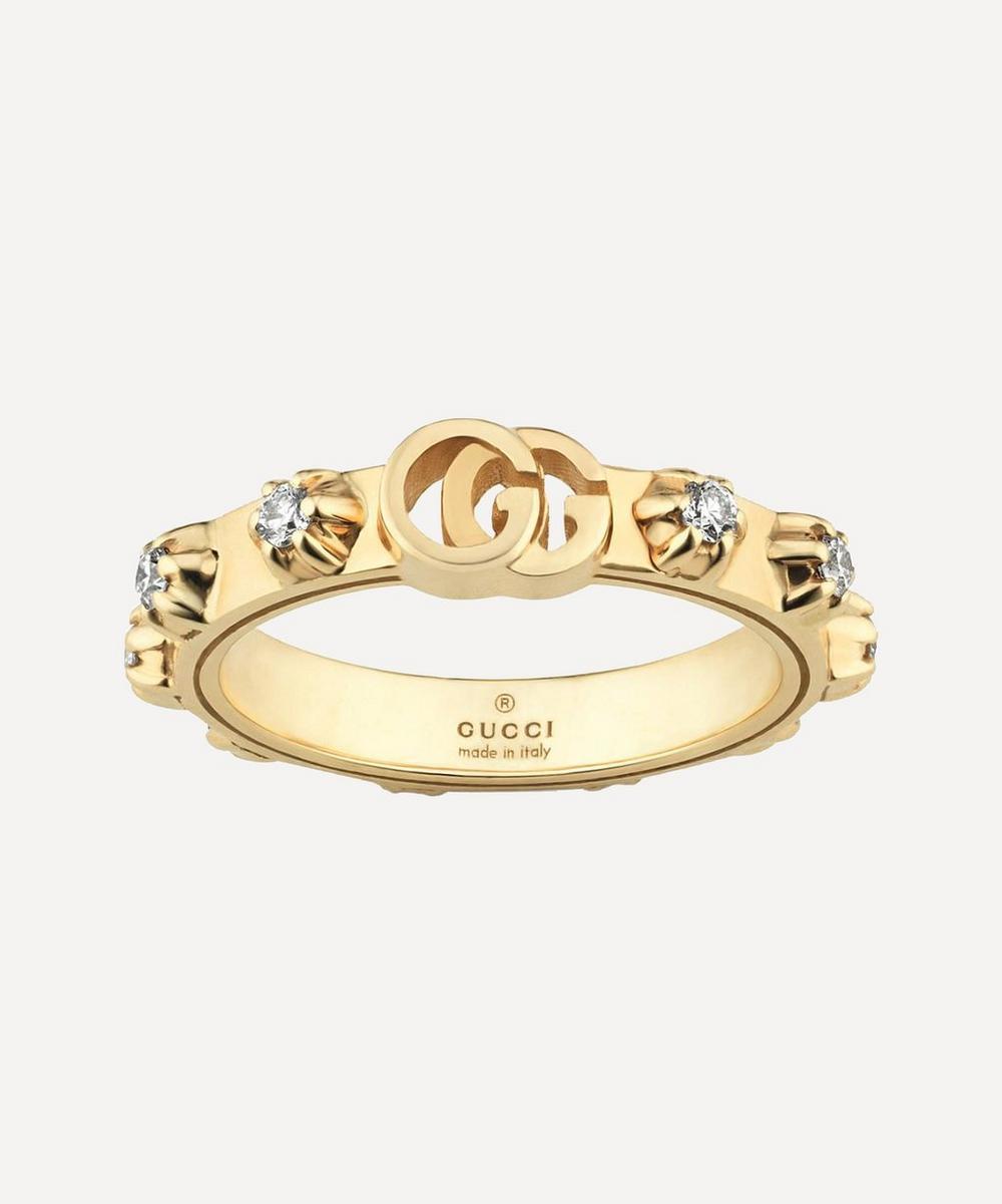 Gucci - Gold GG Running Diamond Ring