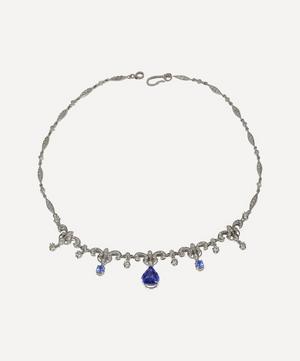 White Gold Tanzanite and Diamond Necklace