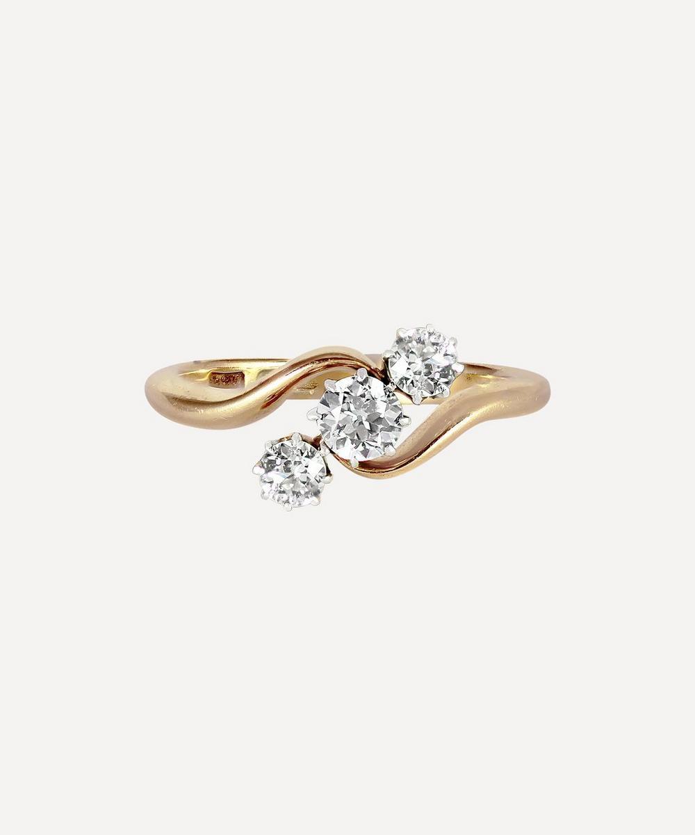 Kojis - Gold Antique Diamond Twist Ring