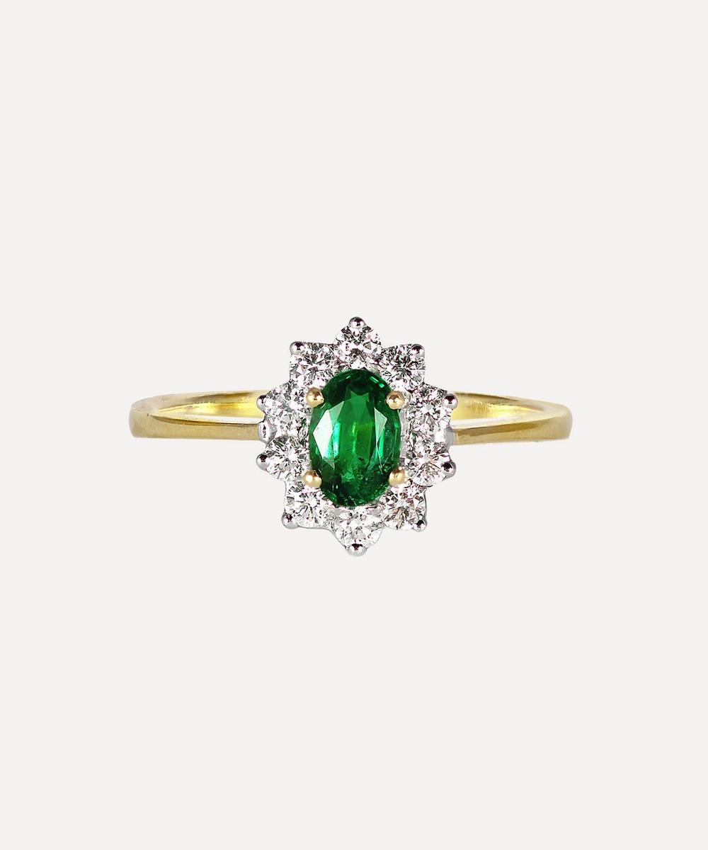 Kojis - Gold Emerald and Diamond Cluster Ring