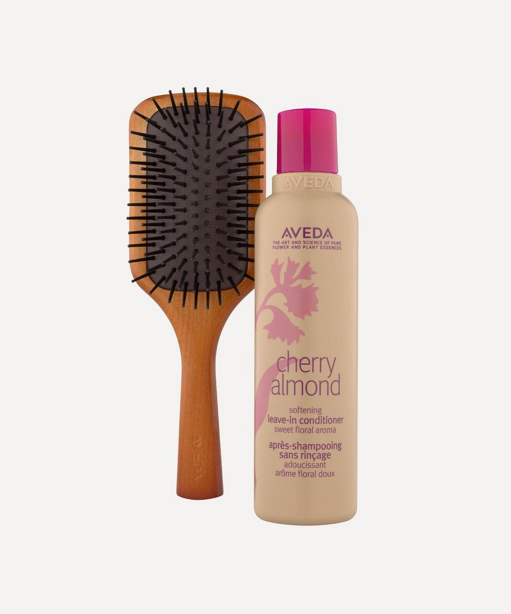 Aveda - Cherry Almond Leave-In Conditioner and Mini Paddle Brush
