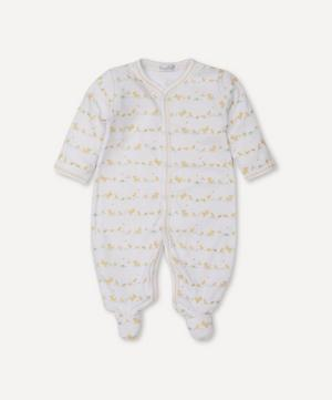Dilly Dally Duckies Print Footie 0-9 Months