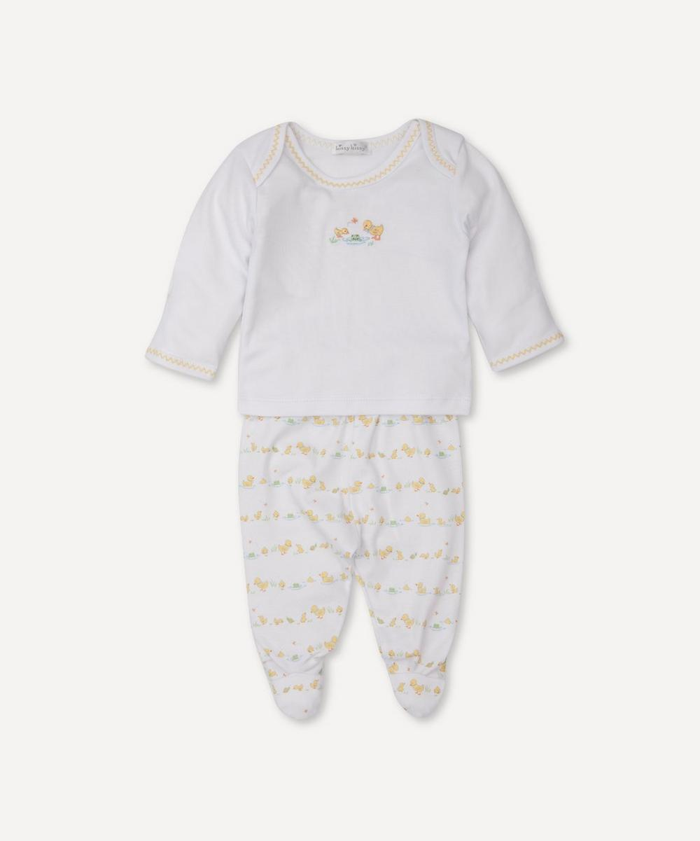 Kissy Kissy - Dilly Dally Duckies Footed Trouser Set 0-6 Months