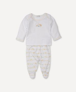 Dilly Dally Duckies Footed Trouser Set 0-6 Months