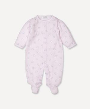 Sheep Print Footie 0-9 Months