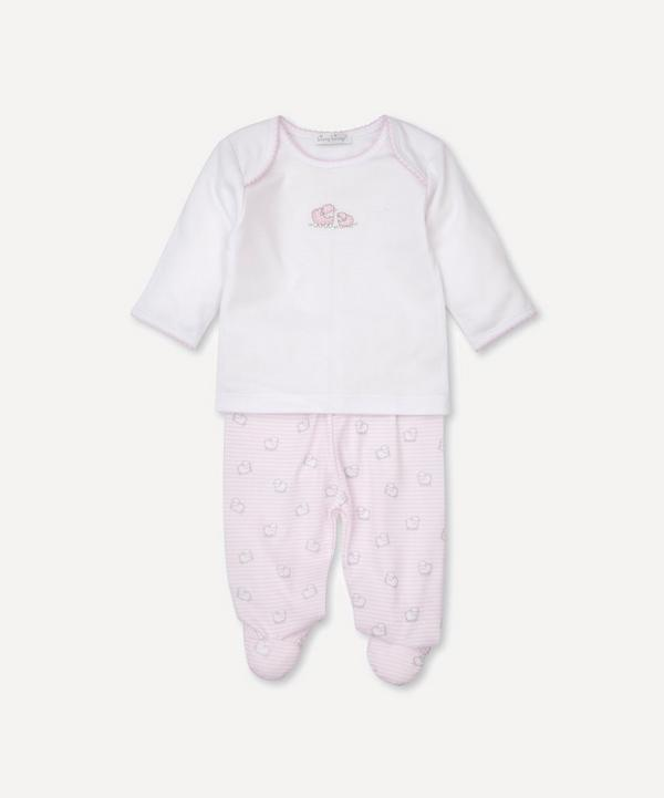 Kissy Kissy - Sheep Print Footed Trouser Set 0-6 Months