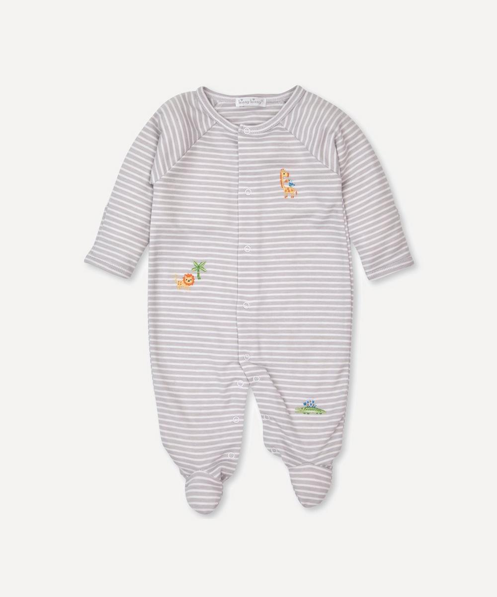 Kissy Kissy - Summer Safari Stripe Footie 0-12 Months